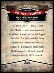 2010 Topps Cards Your Mom Threw Out #10 CMT Roger Maris  Back Thumbnail