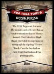 2010 Topps Cards Your Mom Threw Out #3 CMT Ernie Banks  Back Thumbnail