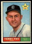 1961 Topps #459  Terry Fox  Front Thumbnail