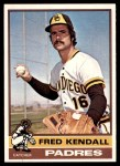 1976 Topps #639  Fred Kendall  Front Thumbnail