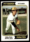 1974 Topps #123  Nelson Briles  Front Thumbnail