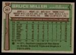 1976 Topps #367  Bruce Miller  Back Thumbnail