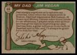 1976 Topps #69   -  Jim Hegan / Mike Hegan  Father & Son Back Thumbnail