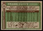 1976 Topps #232  Frank Duffy  Back Thumbnail