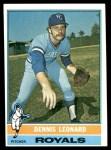 1976 Topps #334  Dennis Leonard  Front Thumbnail