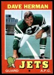 1971 Topps #124  Dave Herman  Front Thumbnail
