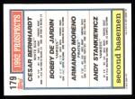 1992 Topps #179  Bobby DeJardin  Back Thumbnail