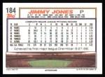 1992 Topps #184  Jimmy Jones  Back Thumbnail