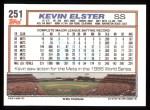 1992 Topps #251  Kevin Elster  Back Thumbnail