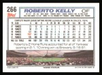 1992 Topps #266  Roberto Kelly  Back Thumbnail