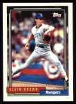 1992 Topps #297  Kevin Brown  Front Thumbnail