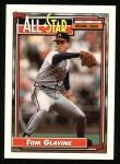 1992 Topps #395   -  Tom Glavine All-Star Front Thumbnail