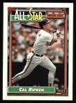 1992 Topps #400   -  Cal Ripken All-Star Front Thumbnail