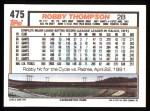 1992 Topps #475  Robby Thompson  Back Thumbnail