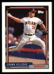 1992 Topps #523  Shawn Hillegas  Front Thumbnail