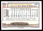 1992 Topps #553  Edgar Martinez  Back Thumbnail