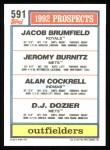 1992 Topps #591  Jeromy Burnitz  Back Thumbnail