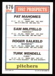 1992 Topps #676  Sam Militello  Back Thumbnail