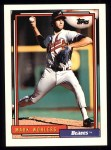 1992 Topps #703  Mark Wohlers  Front Thumbnail