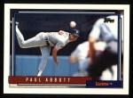 1992 Topps #781  Paul Abbott  Front Thumbnail