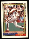 1992 Topps #792  Dave Winfield  Front Thumbnail