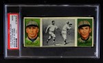 1912 T202 Hassan   -  Tommy Leach / Chief Wilson Donlin Out At First  Front Thumbnail