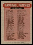 1977 Topps Cloth Stickers   NL Upper-Center Puzzle Piece  Back Thumbnail