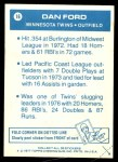1977 Topps Cloth Stickers #16  Dan Ford  Back Thumbnail