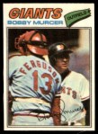 1977 Topps Cloth Stickers #33  Bobby Murcer  Front Thumbnail