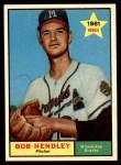 1961 Topps #372  Bob Hendley  Front Thumbnail