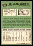 1967 Topps #397  Willie Smith  Back Thumbnail