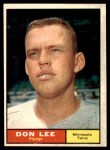 1961 Topps #153  Don Lee  Front Thumbnail