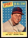 1958 Topps #476   -  Stan Musial All-Star Front Thumbnail