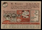 1958 Topps #57 YN Tim Thompson  Back Thumbnail