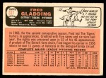 1966 Topps #337  Fred Gladding  Back Thumbnail
