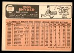 1966 Topps #562  Russ Snyder  Back Thumbnail