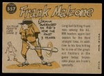 1960 Topps #557   -  Frank Malzone All-Star Back Thumbnail