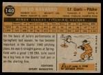 1960 Topps #140   -  Julio Navarro Rookie Star Back Thumbnail