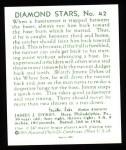 1934 Diamond Stars Reprint #42  Jimmy Dykes  Back Thumbnail