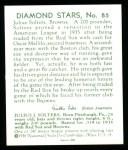 1934 Diamond Stars Reprint #85  Julius Solters  Back Thumbnail
