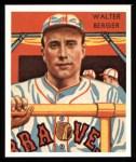 1934 Diamond Stars Reprint #25  Walter Berger  Front Thumbnail