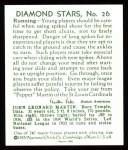 1934 Diamond Stars Reprint #26  Pepper Martin  Back Thumbnail