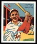 1934 Diamond Stars Reprint #26  Pepper Martin  Front Thumbnail