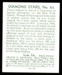 1934 Diamond Stars Reprint #63  Travis Stonewall Jackson  Back Thumbnail