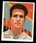 1934 Diamond Stars Reprint #91  Bucky Harris  Front Thumbnail