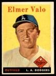 1958 Topps #323  Elmer Valo  Front Thumbnail