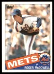 1985 Topps Traded #83 T Roger McDowell  Front Thumbnail