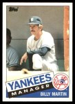 1985 Topps Traded #78 T Billy Martin  Front Thumbnail