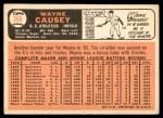 1966 Topps #366  Wayne Causey  Back Thumbnail