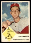 1963 Fleer #53  Don Demeter  Front Thumbnail